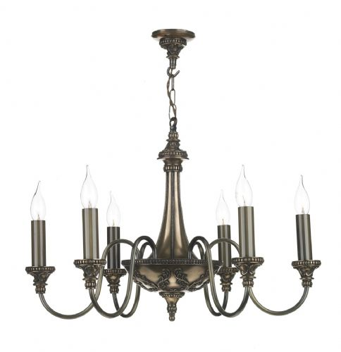 Bailey 6-light Made in the Cotswolds Ceiling Light Rich Bronze BAI0663